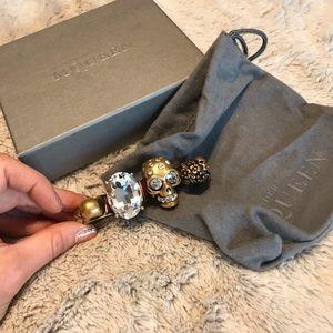 Alexander McQueen Swarovski and Skull Knuckle Ring